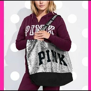 PINK Victoria's Secret Black Friday Sequin Tote